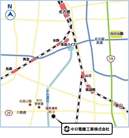 地図 電子部品 名古屋 商社